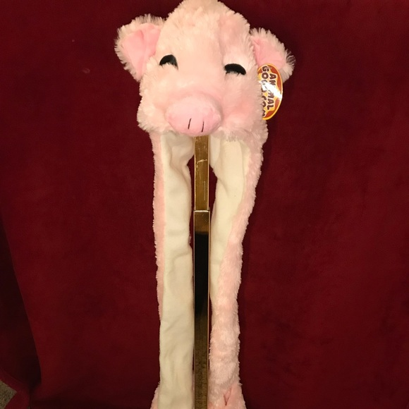 Other - Kids hat, scarf, gloves in one pig Nwt